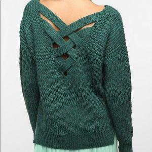 UO Sparkle & Fade Criss Cross Sweater